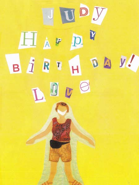 A homemade birthday card