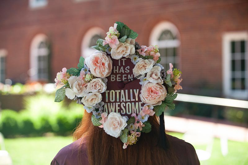 """grad cap that says """"It has been...totally awesome"""""""
