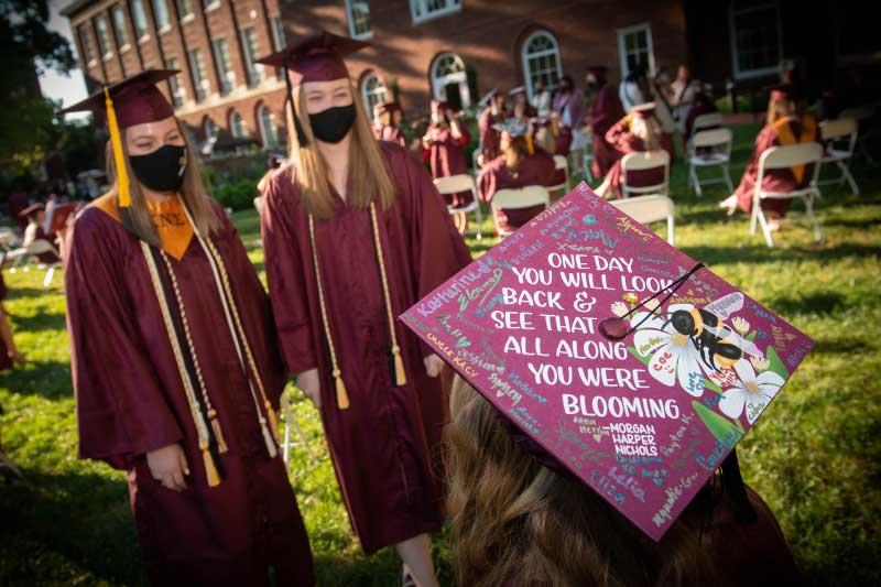 Graduate cap at graduation