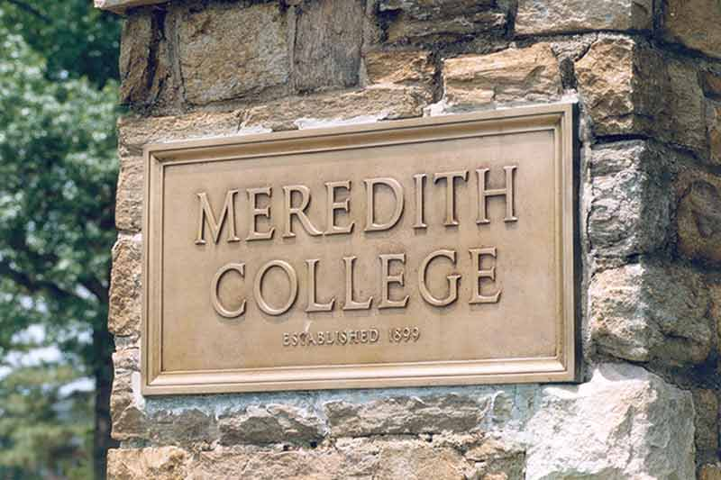 Meredith College Plaque