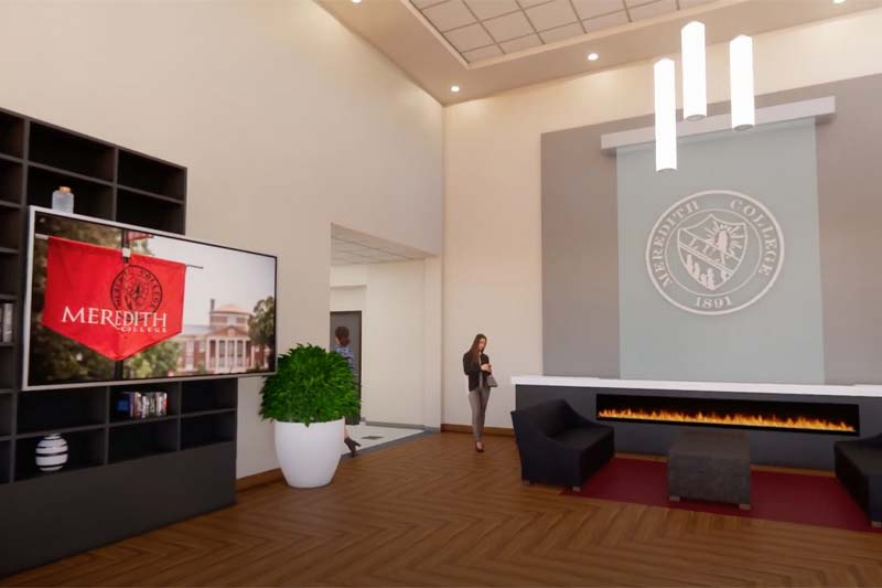 Virtual Rendition of a Lobby in a new building