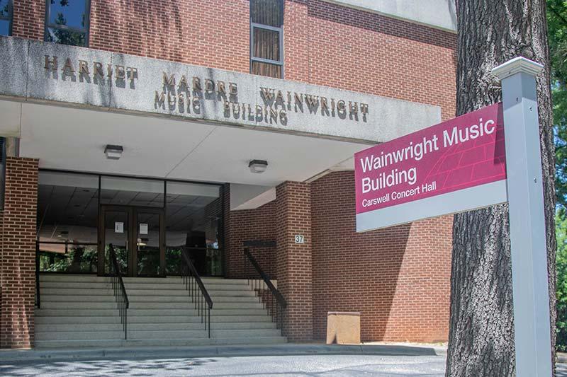 Exterior of Wainwright Music Building